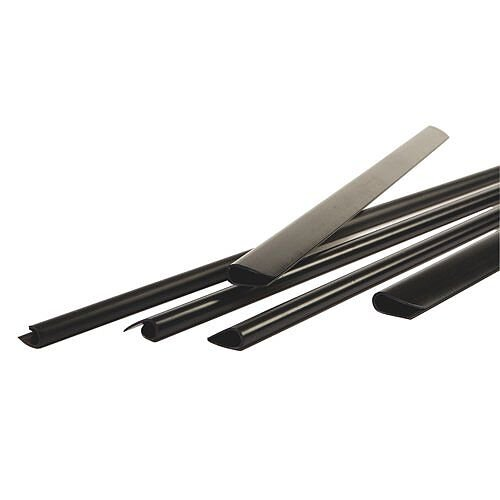 Durable Spine Bars for 60 Sheets A4 Capacity 6mm Black (Pack of 50)