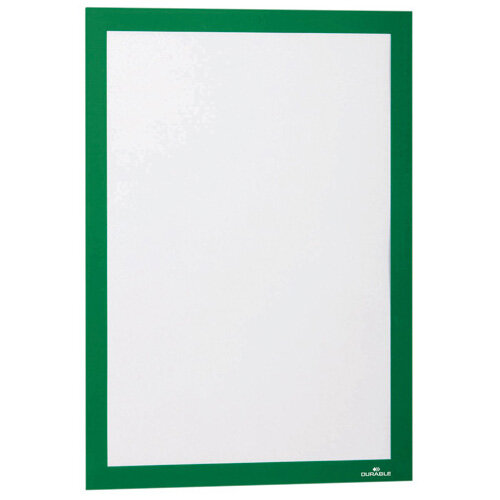 Durable Duraframe Self Adhesive Frame A4 Green Pack of 2 487205
