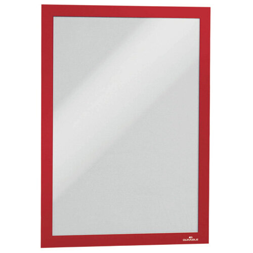 Durable Duraframe Self Adhesive Frame A4 Red Pack of 2 487203