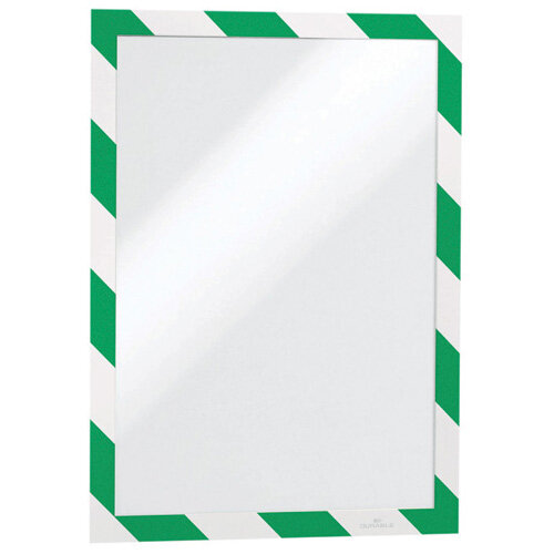 Durable Duraframe Self Adhesive A4 Green/White Pack of 2 4944131