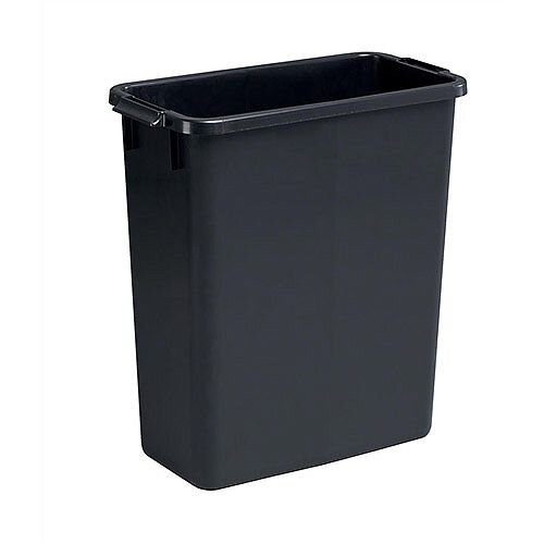 Durable Durabin Recycling Slim Bin 60 Litres Black Without Lid Ref S10496221