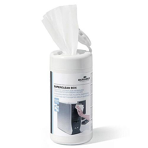 Durable Superclean Moist Cleaning Wipes Anti Bacterial Tub 100