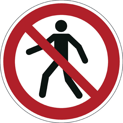 Durable Pedestrians Prohibited Floor Sign 173203