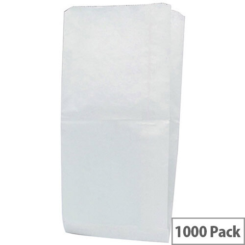 Paper Bag White W228 x D152 x H317mm 34g (Pack of 1000) 201128