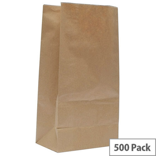 Paper Bag Brown W250 x D150 x H305mm 3.25kg (Pack of 500) 302165