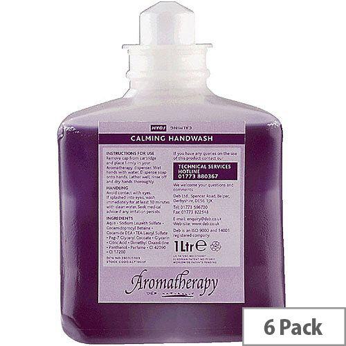 DEB Calming Foaming Hand Soap Cedar Wood &Patchouli Refill Cartridges 1 Litre (Pack of 6) ACF1000ML