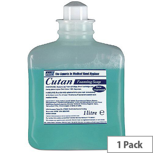 Deb Cutan Foaming Hand Wash Soap 1 Litre Cartridge (Pack 1) CUF39P