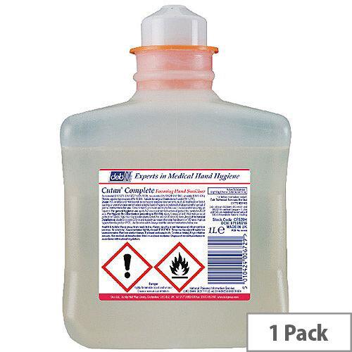 Deb Cutan Complete Foam Hand Sanitiser 1 Litre Refill Cartridge (Pack 1) CFS39H