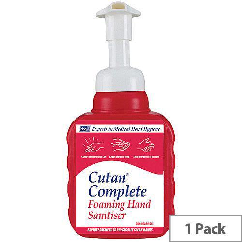 Deb Cutan Complete Foam Hand Sanitiser 400ml Bottle CFS400P