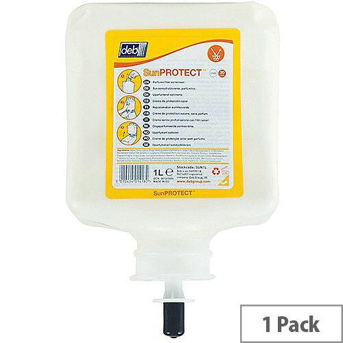 DEB Sun Protect SPF30 Cream 1 Litre Cartridge Refill (Pack 1) SUN1L