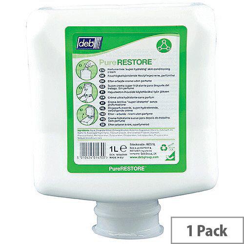 Deb Stokolan Light Pure Skin Conditioner 1 Litre Cartridge Refills (Pack 1) RES1L