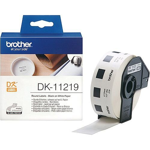 Brother DK-11219 Round Labels 1/2in Diameter