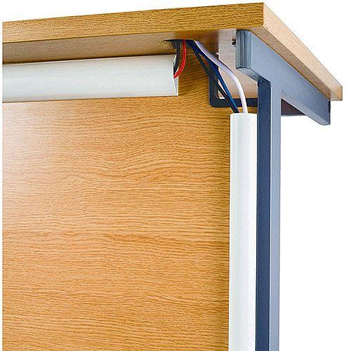 D-Line Desk Trunking Cable Mnagement 1.5m White 2D155025W