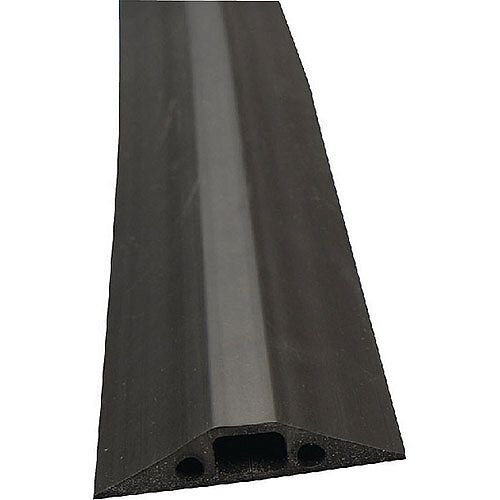 Dline Floor Cable Cover Black 68mm Wide 1.8M Length C/W Connectors