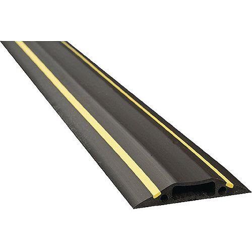 Floor Cable Cover Hazard 80mm 1.8M C/W Connectors Yellow/Black - Ideal for Cable Protection &Covering in any Home, Office, School &More!