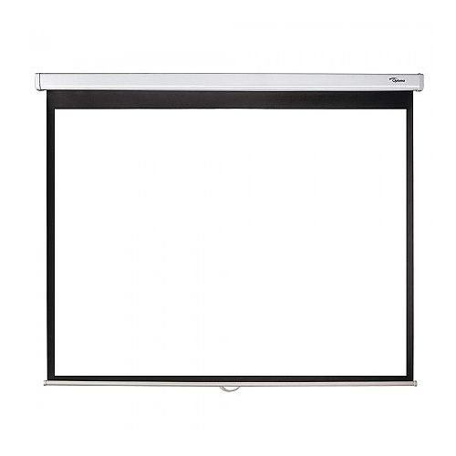 "Optoma DS-3100 - Projection Screen - 100"" Diagonal 4:3 Manual Pull Down Screen - Overall Screen Size (Height x Width) 152 x 203 cm - Speed Reduction System - Self-Locking Mechanism - Dual Wall and Ceiling Mountable"
