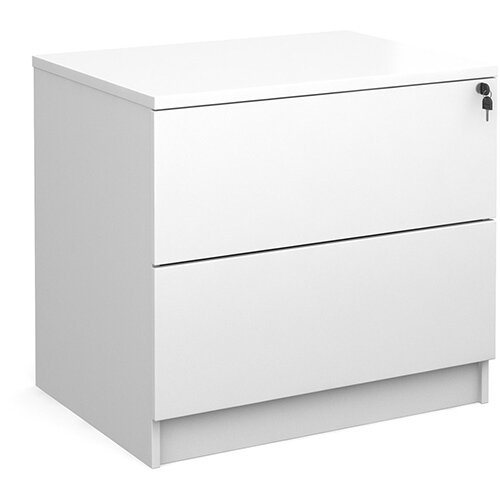 Executive 2 drawer side filer - white
