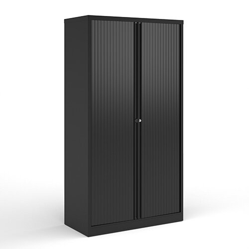 Bisley Systems Storage High Tambour Cupboard 1970mm High - Black