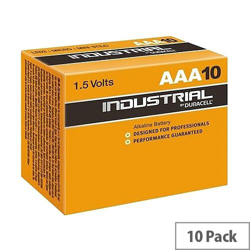 Duracell Industrial Battery Alkaline 1.5V AAA Ref 5000835 Pack 10