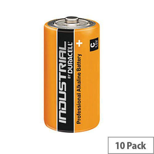Duracell Industrial C Alkaline Batteries Pack 10 81451925