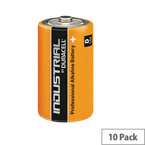 Duracell Industrial D Alkaline Batteries Pack 10 81451917