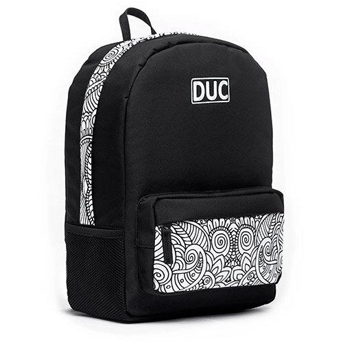 DUC Backpack Doodle Medium School Bag Black 20L