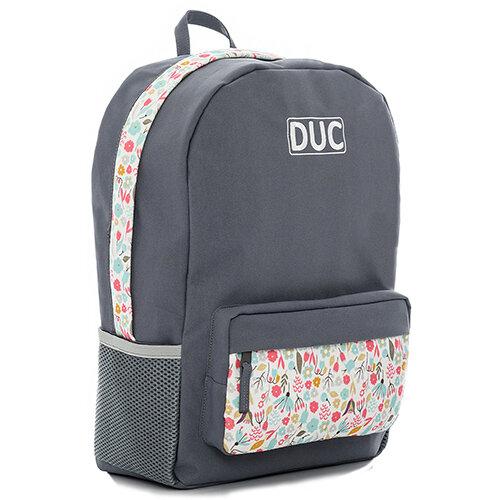 DUC Backpack Flower Medium School Bag Grey 20L