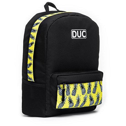 DUC Backpack Pineapple Medium School Bag Black 20L