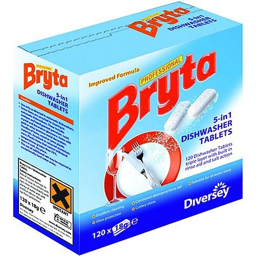 Bryta 5 in 1 Dishwasher Tablets 120tb Pack of 4