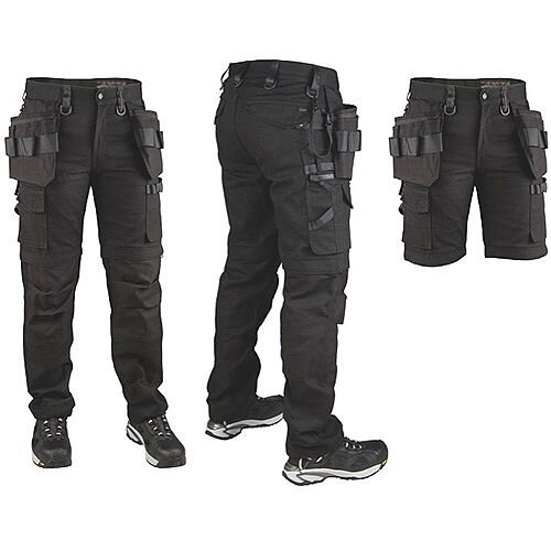Snickers P7 Canvas Trousers Black D104W36L30 DW1