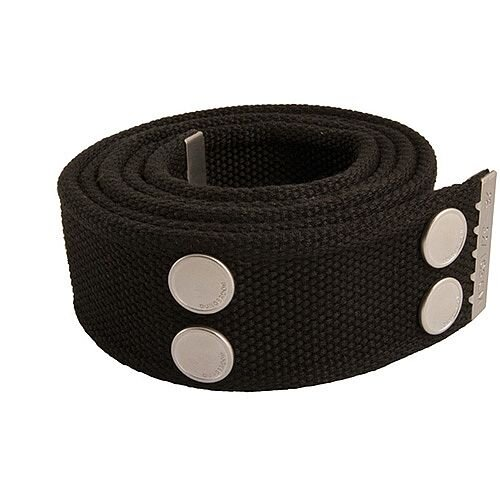 Snickers Canvas Belt Black &Silver Size 33 &42 DW7