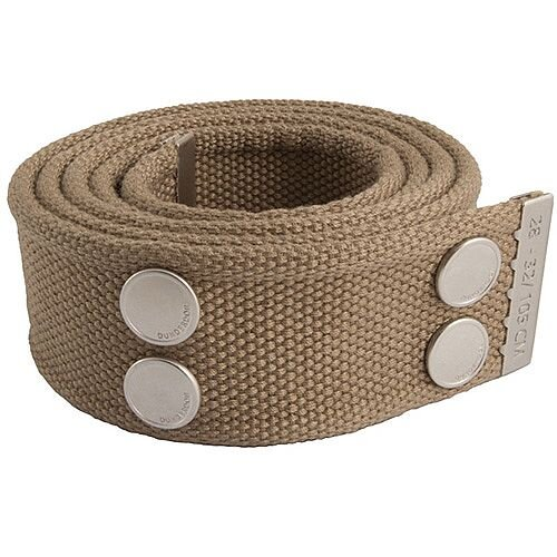 Snickers Canvas Belt Khaki &Silver Size 28 &32 DW7
