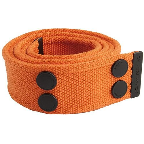 Snickers Canvas Belt Orange &Black Size 33 &42 DW7