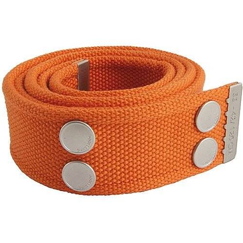 Snickers Canvas Belt Orange &Silver Size 33 &42 DW7