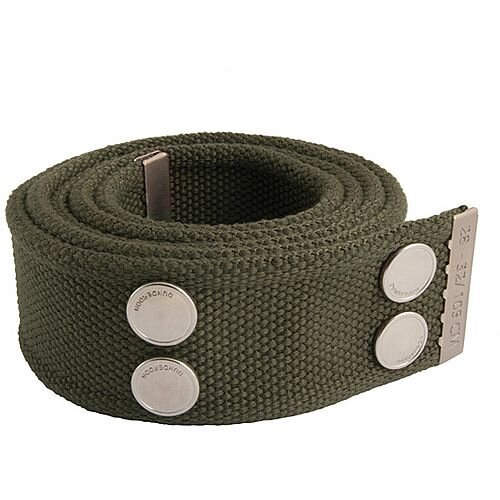 Snickers Canvas Belt Olive &Silver Size 28 &32 DW7