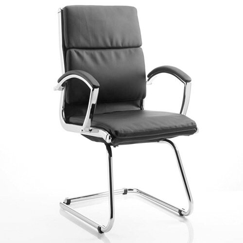 Classic Boardroom &Visitor Cantilever Chair Black With Arms