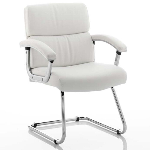 Desire Boardroom &Visitor Cantilever Chair White With Arms