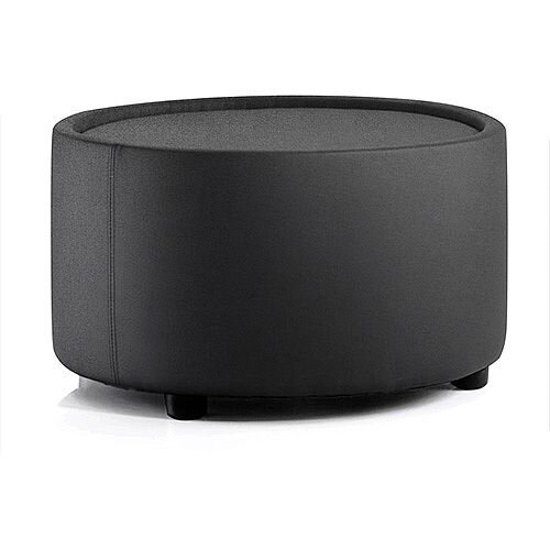 Neo Round Reception Coffee Table Black Fabric