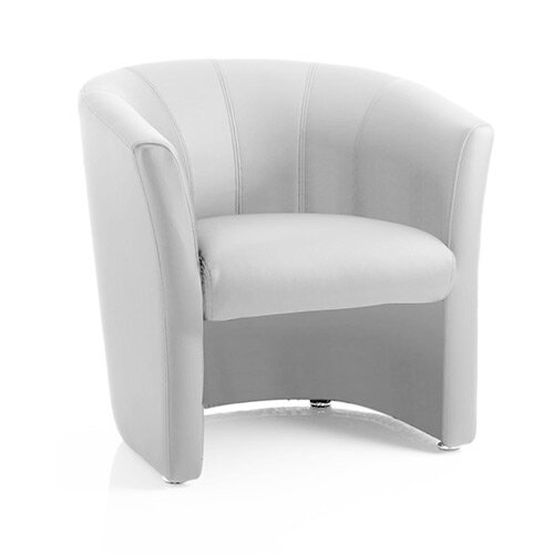 Neo Single Reception Tub Chair White Leather