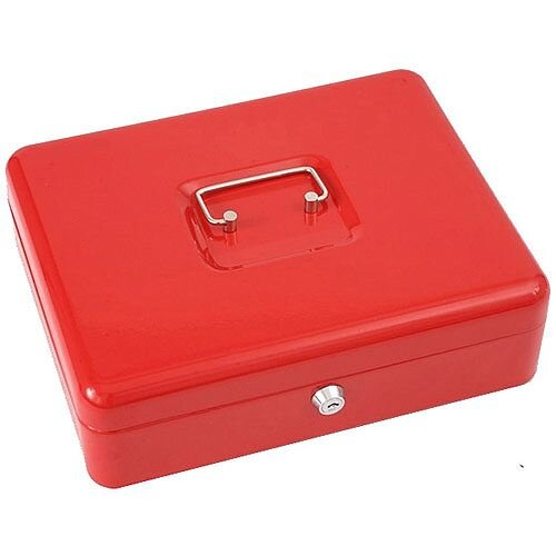 "Phoenix 12"" Cash Box CB0103K with Key Lock Red"
