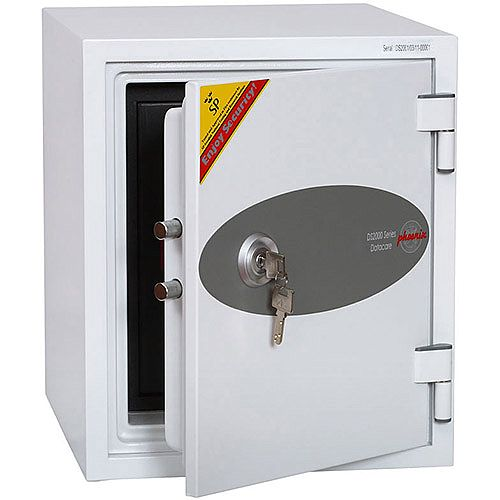 Phoenix Datacare DS2001K Size 1 Data Safe with Key Lock White 7L 60min Fire Protection