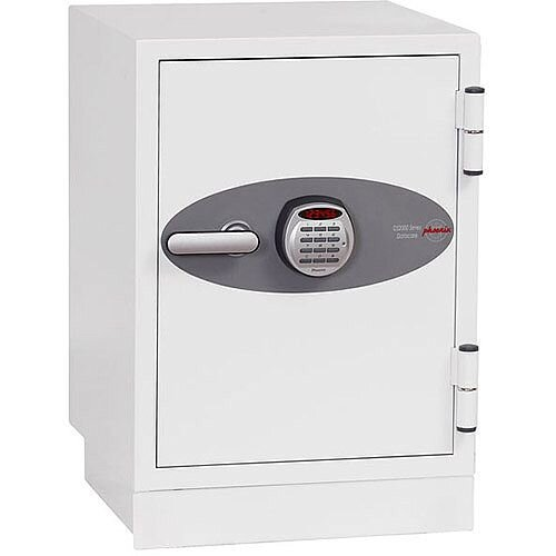 Phoenix Datacare DS2002E Size 2 Data Safe with Electronic Lock White 17L 90min Fire Protection