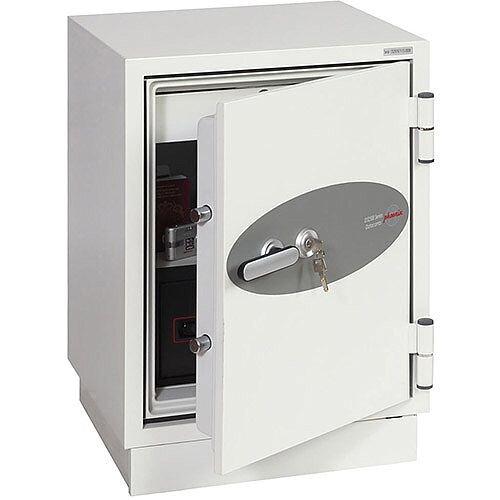 Phoenix Datacombi DS2501K Size 1 Data Safe with Key Lock White 63L 90min Fire Protection