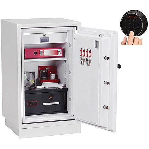 Phoenix Datacombi DS2502F Size 2 Data Safe with Fingerprint Lock White 84L 90min Fire Protection