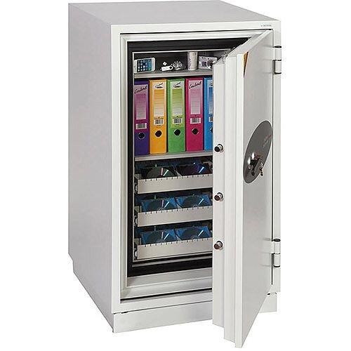 Phoenix Data Commander DS4621K Size 1 Data Safe with Key Lock White 143L 120min Fire Protection
