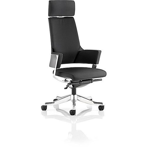 Enterprise Executive Office Chair Black Fabric High Back With Arms