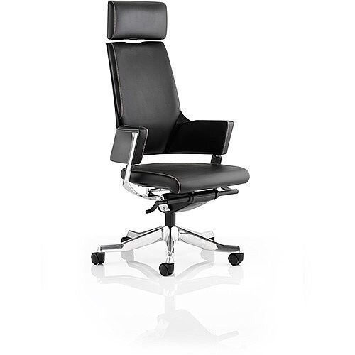 Enterprise Executive Office Chair Black Bonded Leather High Back With Arms