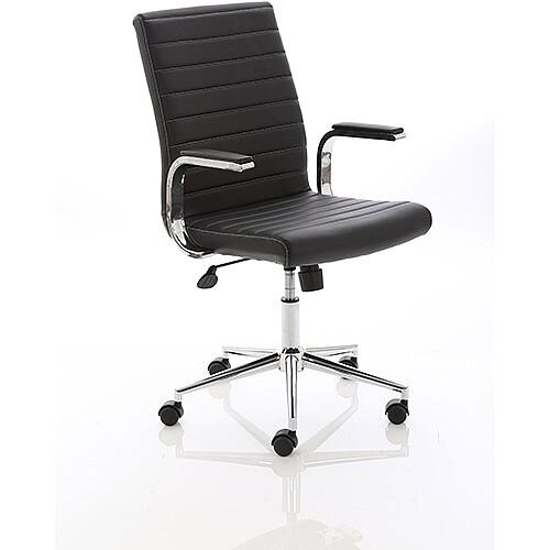 Ezra Executive Black Leather Office Chair