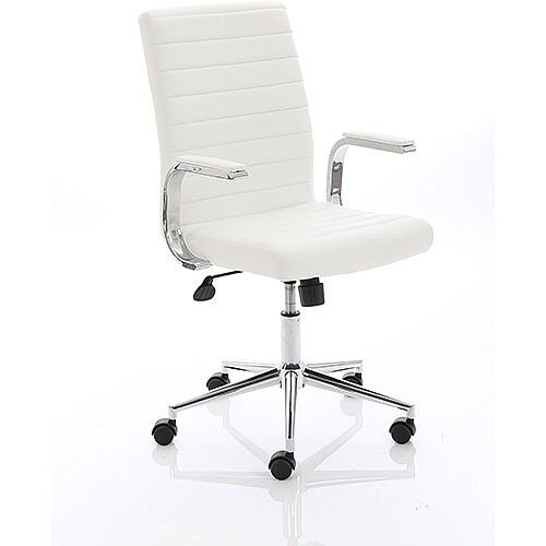 Ezra Executive White Leather Office Chair