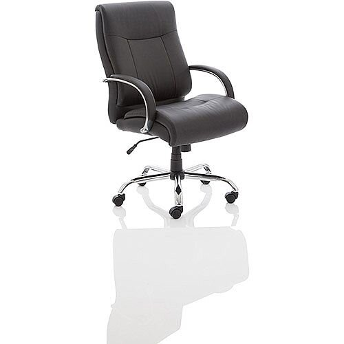 Drayton HD High Back Executive Black Leather Office Chair